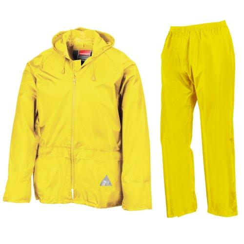Completo Pantalone Uomo Antipioggia Black Result E giacca daATcxRq
