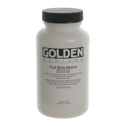 Medium 32 Ounce Jar (Golden Acrylic Fluid Matte Medium - 32 oz Jar)
