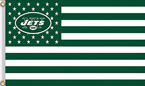 Five Star Flags New York Jets Flag, Jets Flag, Flag for Indoor or Outdoor Use, 100% Polyester, 3 x 5 Feet.