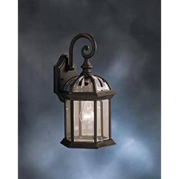 Kichler 9735bk barrie outdoor wall 1 light black