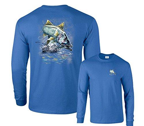 (Fair Game Jumping Snook Long Sleeve T-Shirt-Royal Blue-Large )