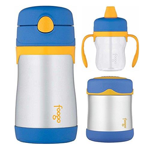 (Thermos Foogo 10oz Straw Bottle, 10oz Food Jar, and 8oz Soft Spout Sippy Cup)