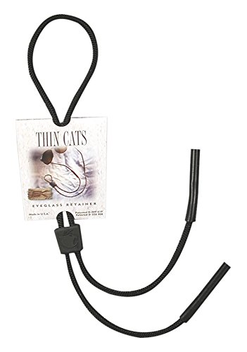 EK Ekcessories Thin Cat Strap Eyewear Retainer (Black, One - Eyewear Retention Strap