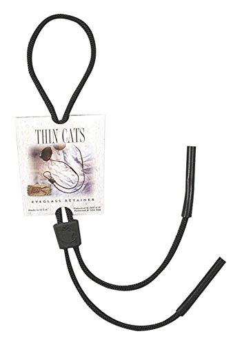 EK Ekcessories Thin Cat Strap Eyewear Retainer (Black, One Size)