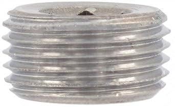 Details about  /Carbon Steel Internal Hex Thread Socket Pipe Plug M18x1.5 Male Thread Black 5Pcs