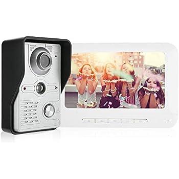 Timbre Inteligente 2.4 Pulgadas HD Smart Home Peephole Viewer Timbre Visual Digital con 135 Grados de Gran Angular//visi/ón Nocturna para casa//Oficina//apartamento//Hotel