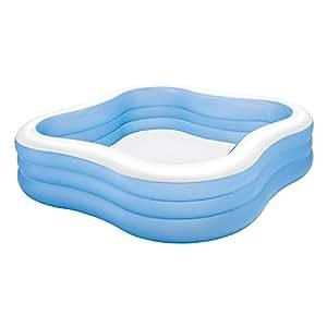 Intex 57495np piscina hinchable cuadrada 229 x 56 cm 1 - Piscina hinchable cuadrada ...