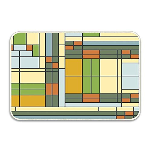 GOLLEY Frank Lloyd Wright S01 Non-Slip Doormat Floor Entryways Indoor Front Door Mat, Kids Bath Mat, 24x16 Inch