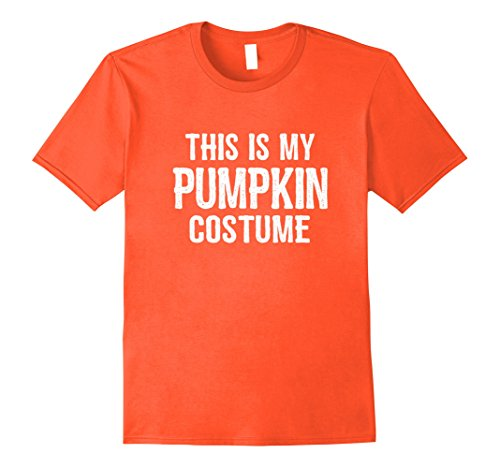 Guy Halloween Costume Ideas Easy (Mens Pumpkin Costume Shirt - Funny Easy Halloween Costumes 2XL Orange)