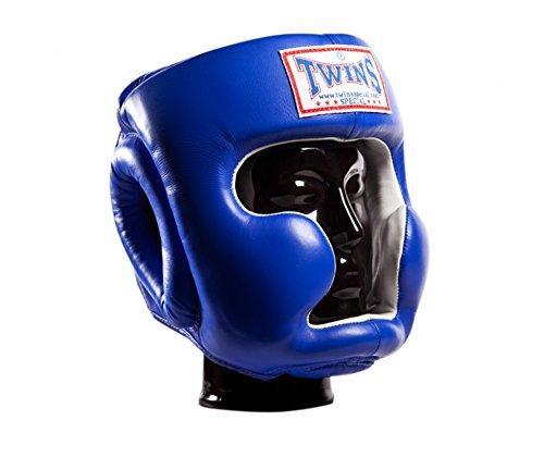 Twins Boxing Head Gear Medium (Blue) - 5