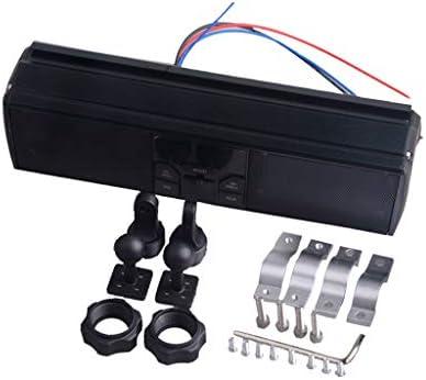 F Fityle 全3色 バイク LEDディスプレイ オーディオサウンドシステム APPコントロール FMラジオステレオスピーカー - ブラック