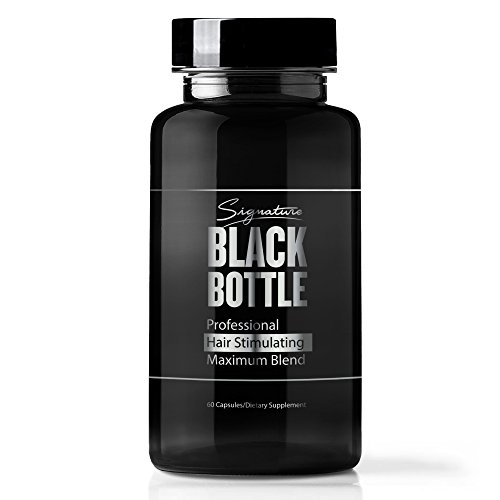 Black Bottle Hair Growth Support Vitamins – Hair Loss Help Supplement DHT Blocker Help – Saw Palmetto – Biotin 10000 MCG – Hair Loss Products for Men Potent 40+Ingredient Restoration + (No Minoxidil)