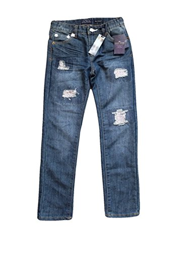 Lucky Brand Boys Jeans Style Billy Straight (14, Blue Dark wash Destructed) by Lucky Brand