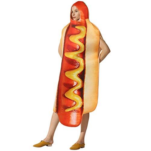Adult's Sublimation Novelty Lightweight Hot Dog Costume Unisex Sausage Dress (Star Trek Plus Costume Size)