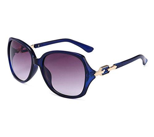 de Gafas sol de las la gafas Azul manera de Huateng Gafas clásicas femeninas sol polarizadas de de sol zZqwfO