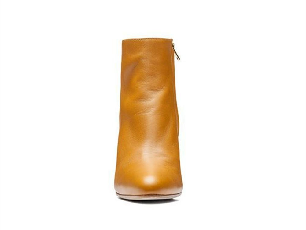 Damen Kurze Stiefel Neue Mode Spitze Zehe Zehe Zehe Mid Rough Geformte Ferse Echtes Leder Schwarz rot Herbst Winter 5b17e5