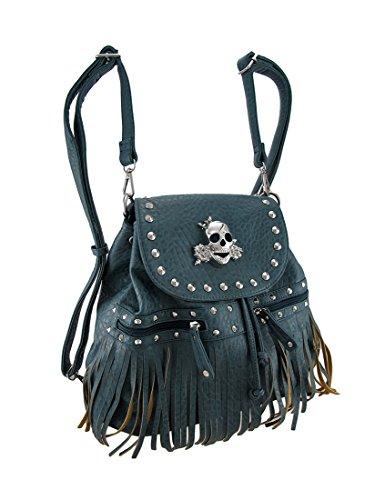 Zeckos - Bolso mochila para mujer Talla única Azul