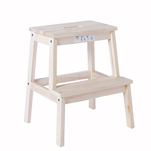 ALUS-step stools 2 Layer Solid Wood Multifunction Assembly Ladder Stool Shoe Bench Children's Stool Can Bear 150kg
