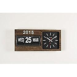 FARTECH Auto Calendar Flip Clock AD-830 (Wood Trim)