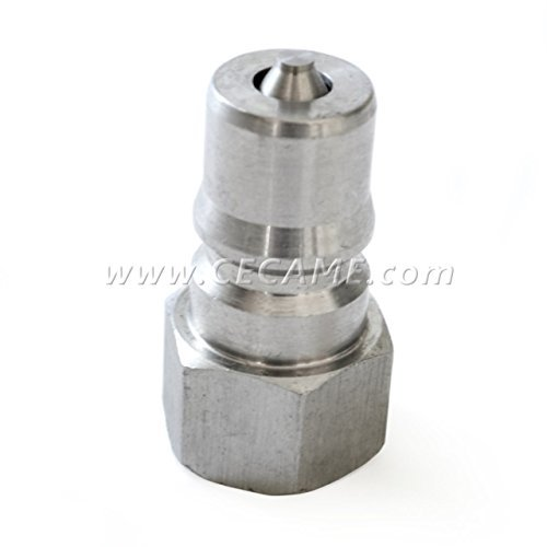 (Stainless Steel Male Quick Disconnect Coupler Connect 1/4