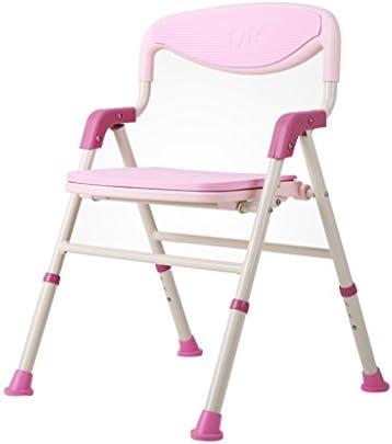 Badehocker Zusammenklappbarer älterer Rutschfester Aluminiumbadestuhl behinderte Badestuhl Schwangere Frauen Schemel Badezimmer (Color : Pink)