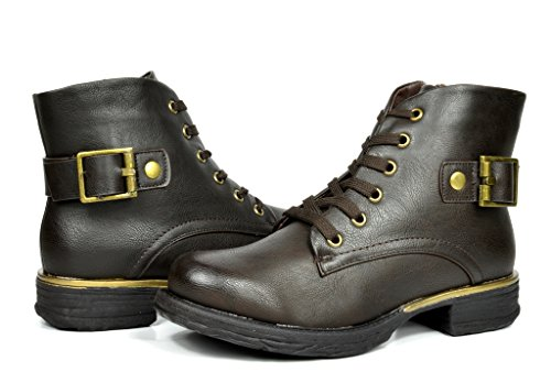 DREAM PAIRS ALTITUDE Women's Fashion Lace-up Military Combat Boots Booties - stylishcombatboots.com