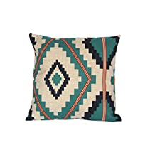 Aztec Throw Pillow Covers Tribal Decorative Pillow Cases Geometric Cushion Covers Navajo Cushion Case 18x18