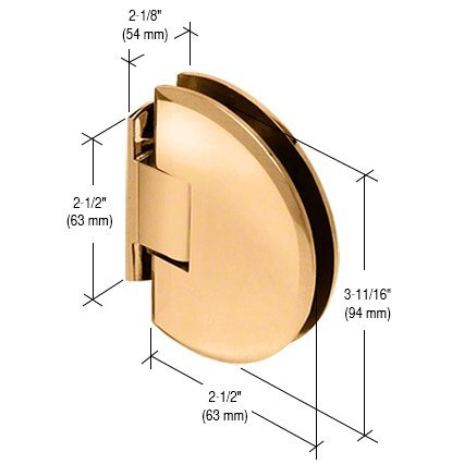 C.R. LAURENCE CLA044GP CRL Gold Plated Classique 044 Series Wall Mount Flush Back Plate Hinge
