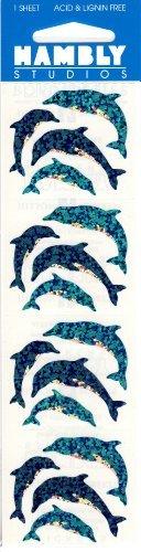Hambly Studios - Dolphin Sparkle Scrapbook Stickers (S7145)