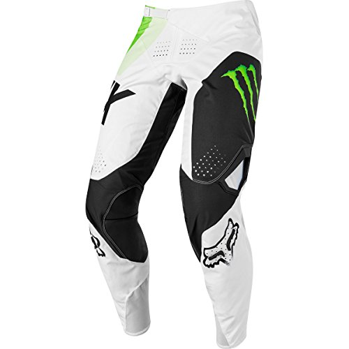 Fox Racing 360 Draftr Monster Pro Circuit Men's MX Motorcycle Pants - White/Green / 34 (Circuit Racing Pro)
