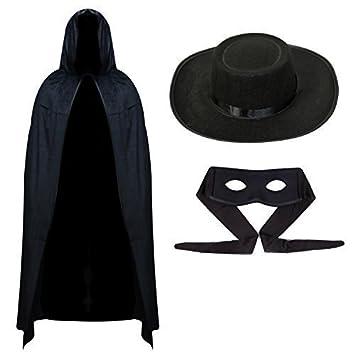 Mens Zorro Halloween Outfit - Cape Mask u0026 Hat  sc 1 st  Amazon UK & Mens Zorro Halloween Outfit - Cape Mask u0026 Hat: Amazon.co.uk: Toys ...
