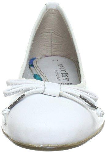 Marco Tozzi 2-2-22128-20 - Bailarinas de cuero mujer blanco - Weiß (WHITE 100)
