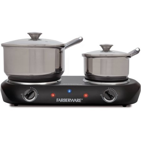 Farberware Black Double Burner