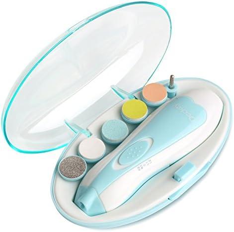 DECKEY Lima de uñas para bebés Juego de acabados de niño Cortauñas seguro para bebé o los pies y las uñas del bebé Cuidado pulido y recorte (Azul): Amazon.es: Bebé
