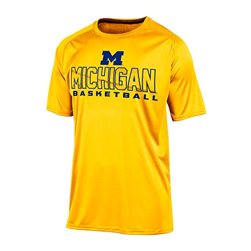 NCAA Michigan Wolverines Men's Impact T-Shirt, Large, Yellow