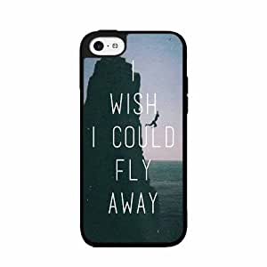 I Wish I Could Fly Away- TPU RUBBER SILICONE Phone Case Back Cover iPhone 5 5s