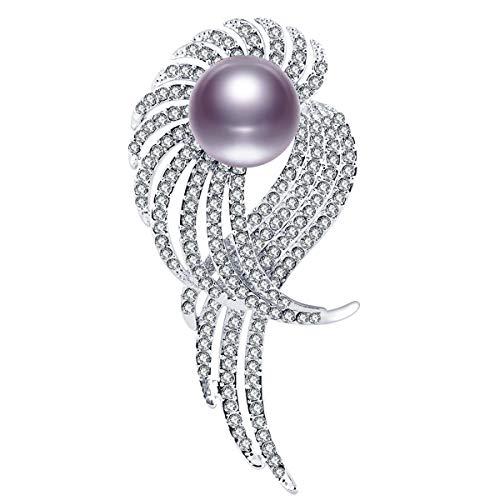 - RAINBOW BOX Brooch Pins for Women,Black Pearl Zircon Jewelry Women's Brooches & Pins
