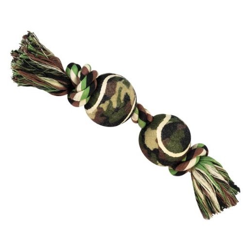 Grriggles Camo Rope Collection Bone Shaped Dog Toy, 12-1/2-Inch, My Pet Supplies