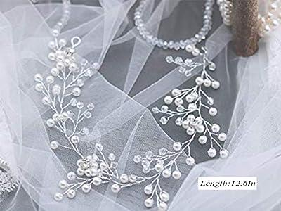 Edary Wedding Hair Vine Accessories Bridal Headpiece for Bride and Bridesmaid