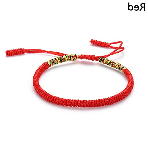 Werrox Buddhist Knots Lucky Rope Bracelet Knitted Silk Woven Adjustable- | Model BRCLT - 23296 |