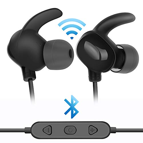 Extra Bass in-Ear Wireless Earbuds Bluetooth Headphones Comfortable Bluetooth Gym Headphones Workout Earbuds for Running Jogging Surround Sound Headphones Noise Cancelling Earphones (Earbud Surround Sound Headphones)
