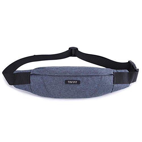 TINYAT Fanny Bag Waist Pack Sling Backpack Water Resistant Durable Polyester Small Outdoor Lightweight Crossbody Daypack for Women Men T213