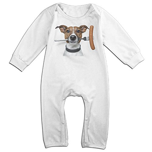 HOHOE Boy's & Girl's Jack Russell Terrier Long Sleeve Jumpsuit Outfits 24 Months (German Shepherd Toaster compare prices)