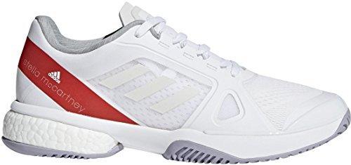 adidas Women's ASMC Barricade Boost White/Dark Callistos/Pearl Grey 9.5 B US