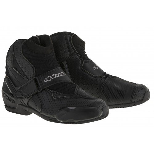 Smx 1 Riding Shoes - Alpinestars SMX-1 R Vented Boots (44) (BLACK)