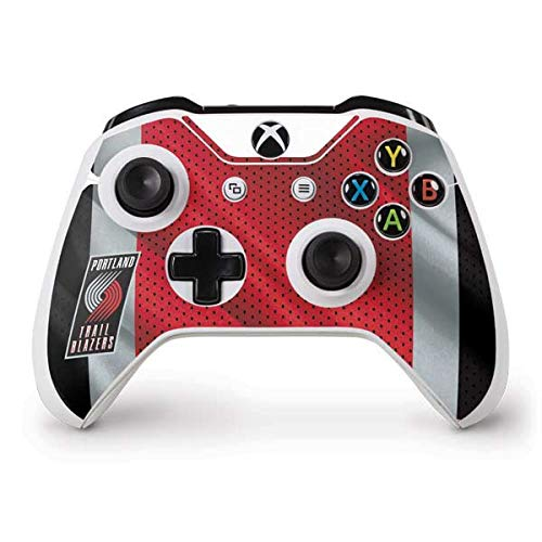 Skinit Portland Trail Blazers Away Jersey Xbox One S Controller Skin - Officially Licensed NBA Gaming Decal - Ultra Thin, Lightweight Vinyl Decal Protection ()