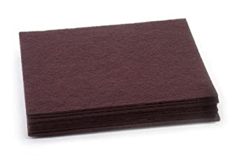 Clarke 997024 Commercial 14 Inch X 20 Inch Maroon Surface Prep Pad (Deep Scrub Prior to Recoat), Case of 10