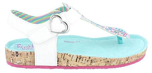 Skechers Kids Granola-Rockin Nature T Strap Sandal , White,