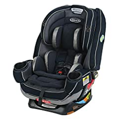The Graco 4Ever Extend2Fit Platinum convertible car seat offers 10 years of use, in one car seat featuring EZ Tight latch, for a secure and simple installation with 3 easy steps. Now safely ride rear-facing longer with Extend2Fit, providing 5...