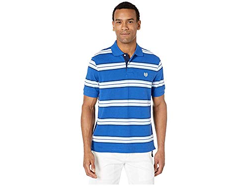 Chaps Men's Classic Fit Striped Cotton Mesh Polo Shirt, Sapphire Multi, XX-Large Classic Striped Cotton Polo Shirt
